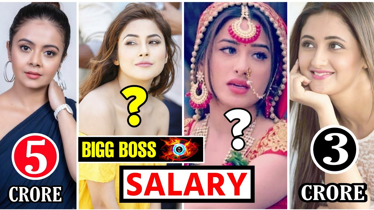 Bigg Boss 13 Contestants Salary Per Week Salary Of Bigg Boss Season 13 Contestants
