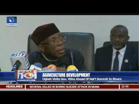 Agriculture Development: Minister Calls For Support Of State Governments