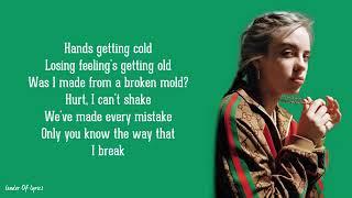 Billie Eilish  idontwannabeyouanymore Lyrics (one hour)