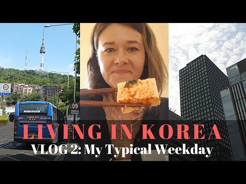 Living in Korea Vlog #2- My Typical Weekday Routine
