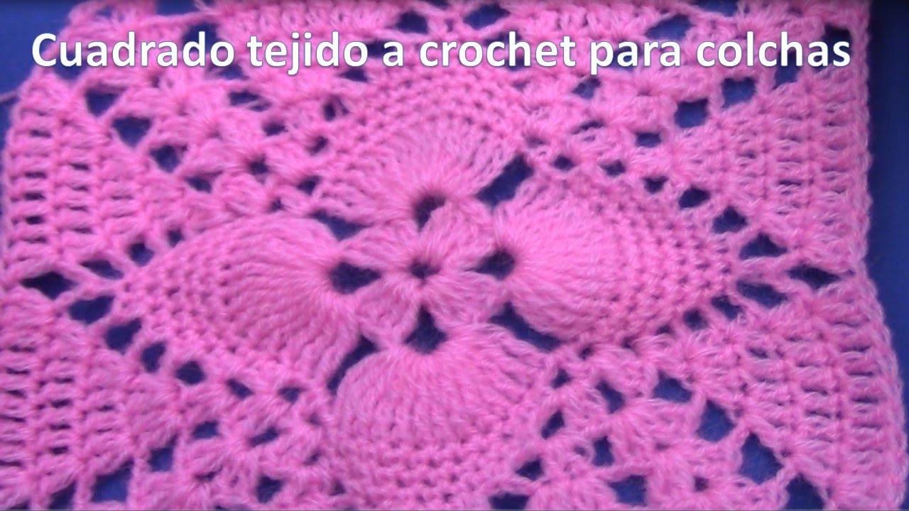 Cuadrado o cuadro a crochet en punto pi itas paso a paso - Colchas de crochet paso a paso ...