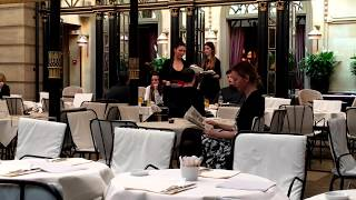 The Hôtel Costes restaurant: trendy, hip, and chic. Top celebrity hangout in Paris.