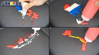 National Flag Map Indonesia Vietnam Thailand Philippines Pancake art