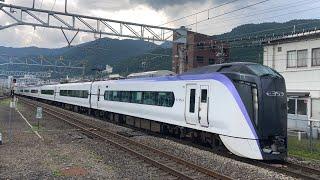 特急あずさ29号E353系 車窓 新宿→上諏訪/ 中央本線 新宿1400発(松本行)