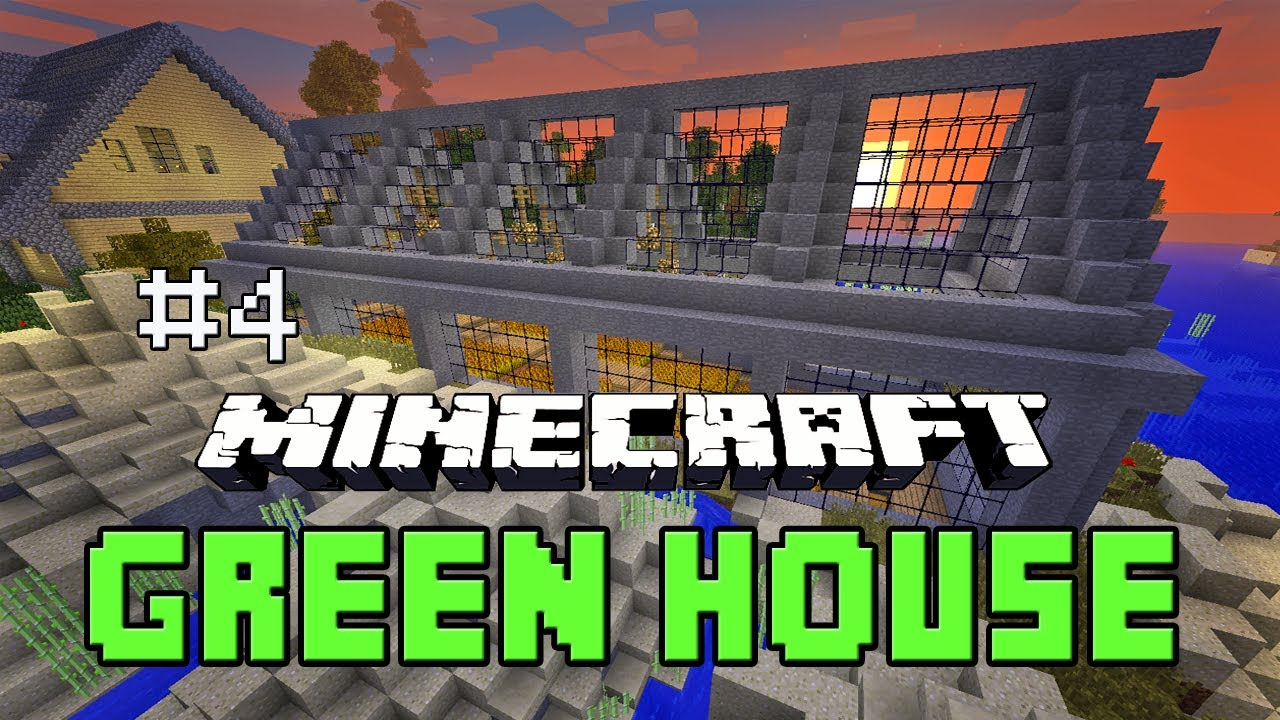 minecraft tutorial how to build a greenhouse farm house
