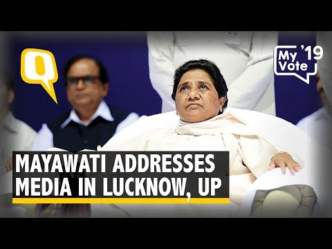 Mayawati Addresses Media in Lucknow, UP