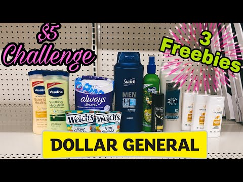 Dollar General $5 Challenge! I 10/18-24/2020 I 3 Freebies & Overage!
