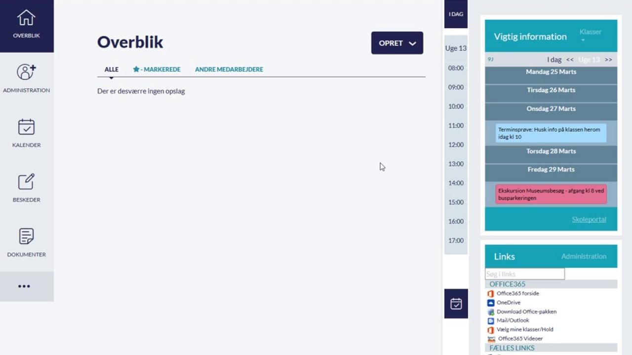 EasyIQ Links Widget i Aula
