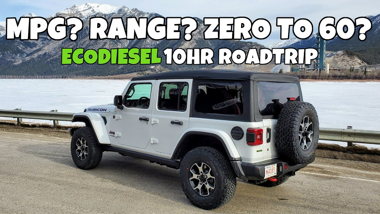 10hrs In My Ecodiesel Jeep Wrangler Fuel Economy Range Acceleration Noise Real World Review Youtube