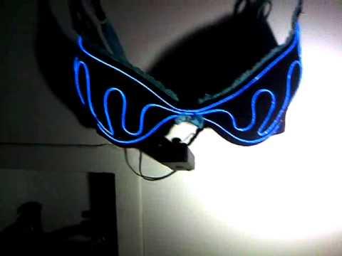 DIY El Wire Bra Electroluminescent Wearables - YouTube