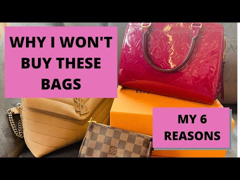 MY 6 HANDBAG DEAL BREAKERS, WHY I WON'T BUY THESE BAGS: tag video. from YouTube · Duration:  8 minutes 50 seconds