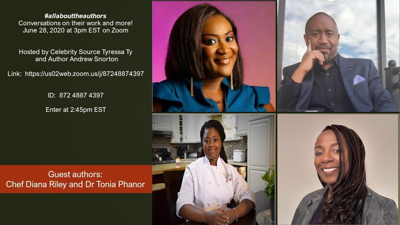 Download June 28, 2020:  Episode 4 of #allabouttheauthors520 featuring Chef Diana Riley & Dr Tonia Phanor
