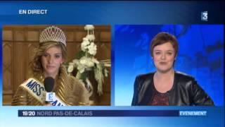 Camille Cerf en direct sur France 3 Nord Pas-de-Calais