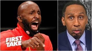 Stephen A. is 'suspicious and alarmed' about Lloyd Pierce being fired by the Hawks | First Take