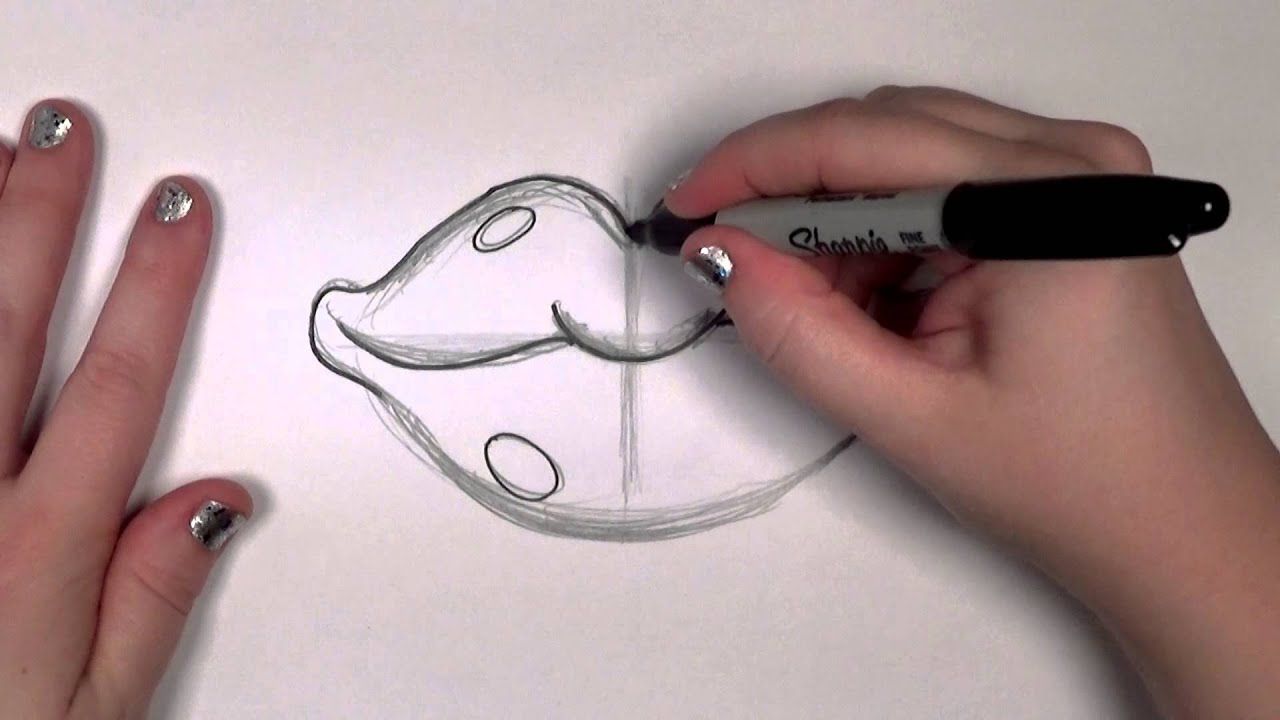How To Draw Red Cartoon Lips Cc Youtube