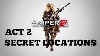 Sniper: Ghost Warrior 2 - All Secret Locations - Act 2 - (Keepsakes of War Trophy / Achievement)