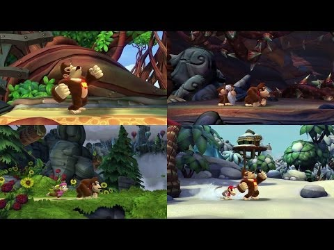 Donkey Kong Country: Tropical Freeze Character Videos