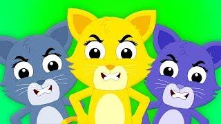 три маленькие котята | кот песня | детские стишки | Three Little Kittens | Cat Song For Kids