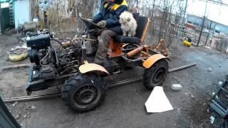як зробити міні трактор з рамою переломка