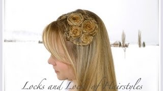 How to make:  Braided Flowers in your hair