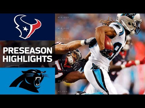 Texans vs. Panthers | NFL Preseason Week 1 Game Highlights