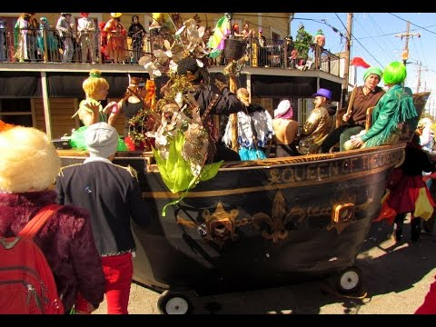 St.  Anne's Parade, Mardi Gras, Faubourg-Marigny, New Orleans, 2-9-2016