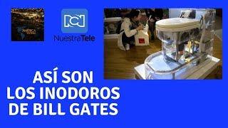 Bill Gates presentó un inodoro que no necesitaría agua