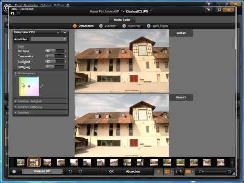 Fotos im Media Editor in Avid studio und Pinnacle Studio