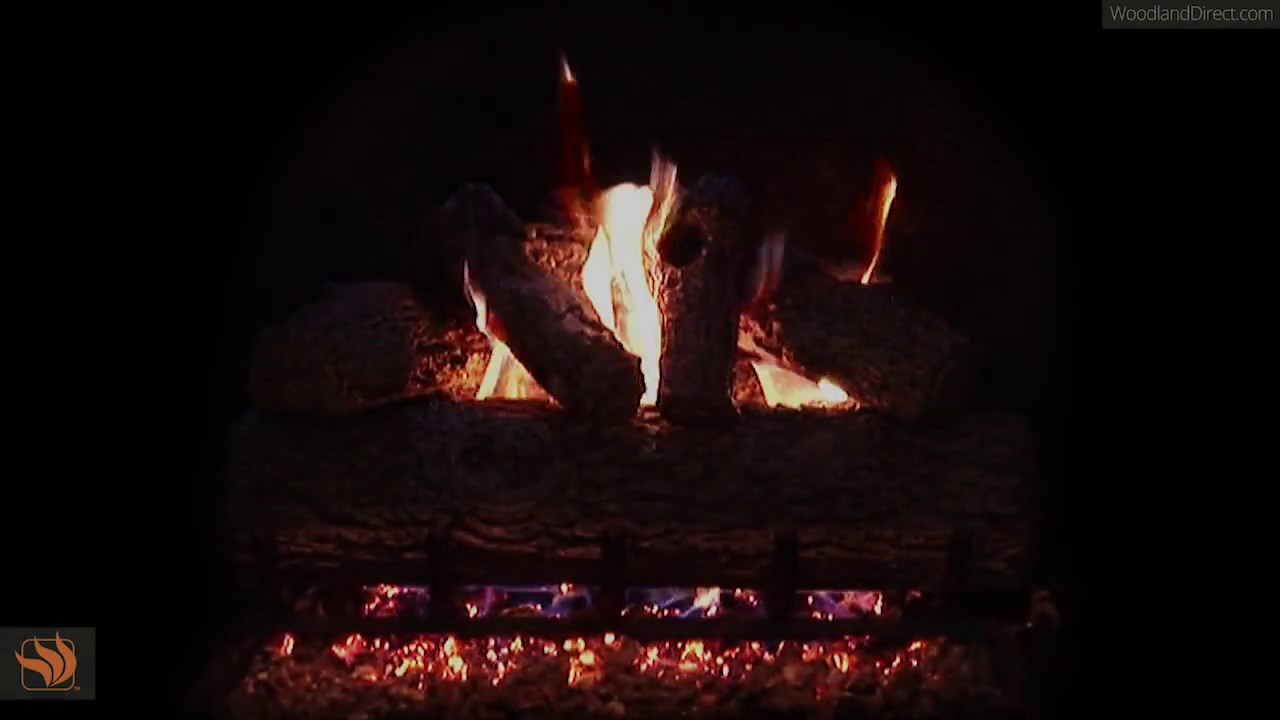 real fyre golden oak vented gas log set youtube