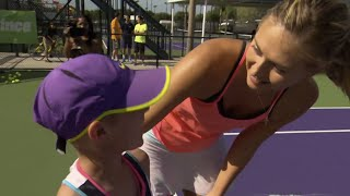 Maria Sharapova Surprises Young Tennis Player Battling Cancer | TODAY