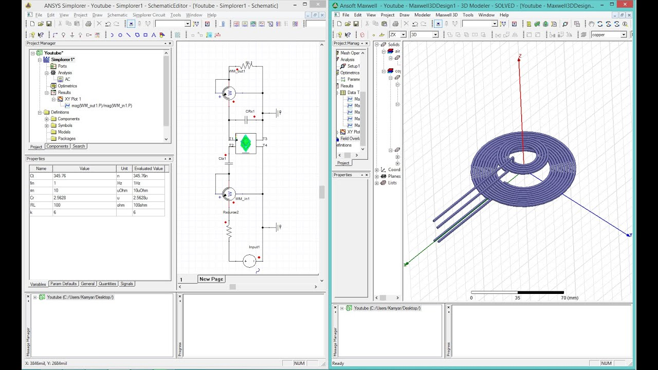 How To Make A Simulation For Wireless Power Transfer Circuit In Hfss