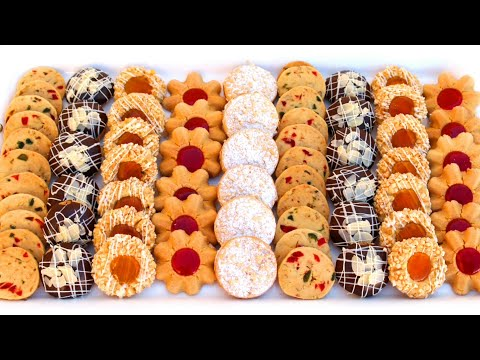جديد 5 اشكال من الحلويات بعجين واحد و مذاق مختلف و بكمية وفيرة