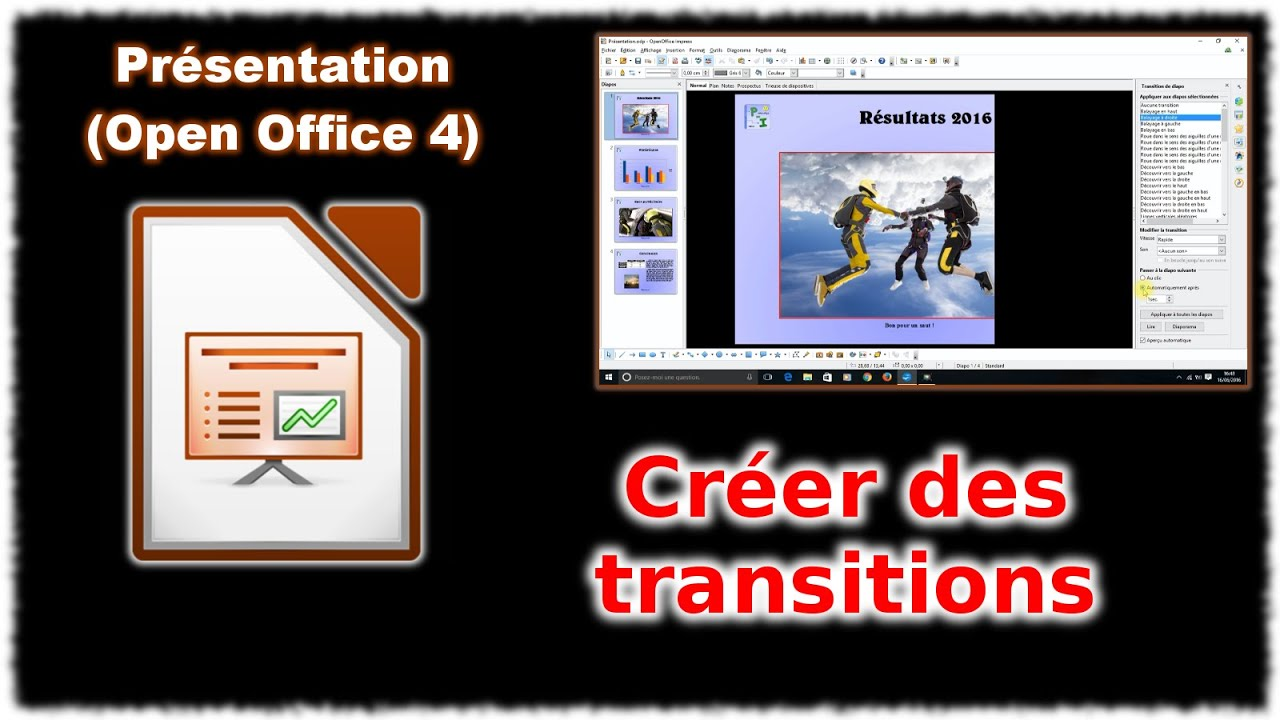 Tuto impress 4 les transitions open office youtube - Comment utiliser open office impress ...