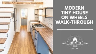 Modern Tiny House Walk-through With A First-floor Bedroom!