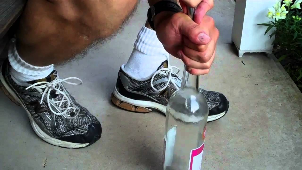 Putting The Cork Into The Wine Bottle Youtube