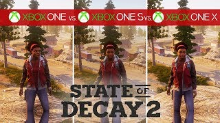 State of Decay 2 Comparison - Xbox One vs. Xbox One S vs. Xbox One X