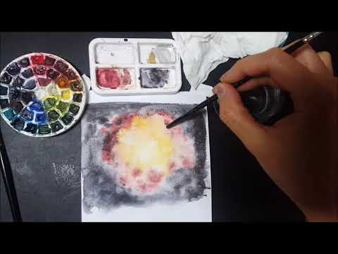 Watercolor Tutorial: Fiery Clouds/Explosion