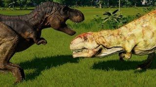 Giganotosaurus vs T-Rex, Indominus Rex, Indoraptor, Spinoraptor, Spinosaurus, Carcha & Allosaurus