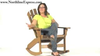 Breezesta's Maintenance Free Patio Furniture - The Cedar Coastal Adirondack Rocker