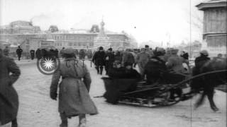 Scenes in city of Omsk, Russia, during World War I. HD Stock Footage