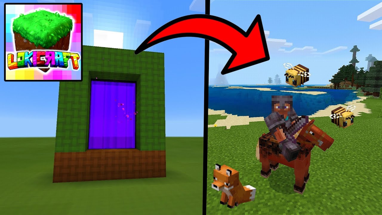 Lokicraft : How To Make REAL Portal To MINEACRAFT PE in Lokicraft