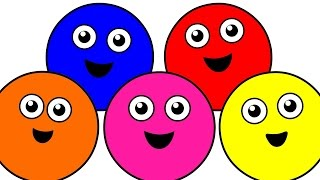 Learn Colors For Children Kids Toddlers   With colored balls and examples from the real life!