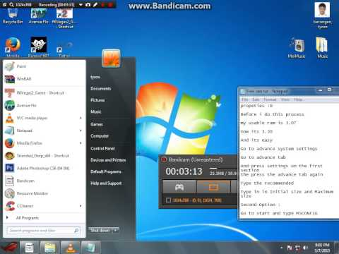 How To Free Usable Ram (windows 7 64bit)