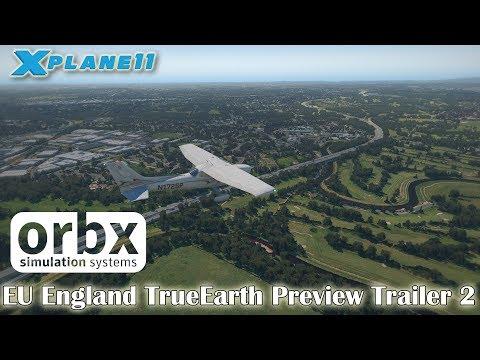 Orbx EU England TrueEarth Preview Trailer 2 for X-plane 11