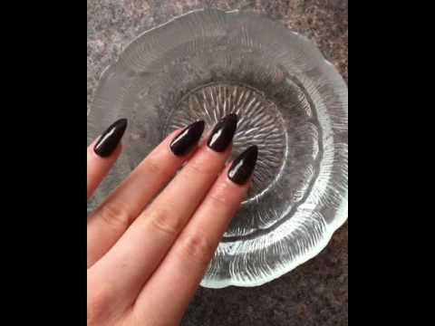 Heat Color Change Nails Black White Nail Art