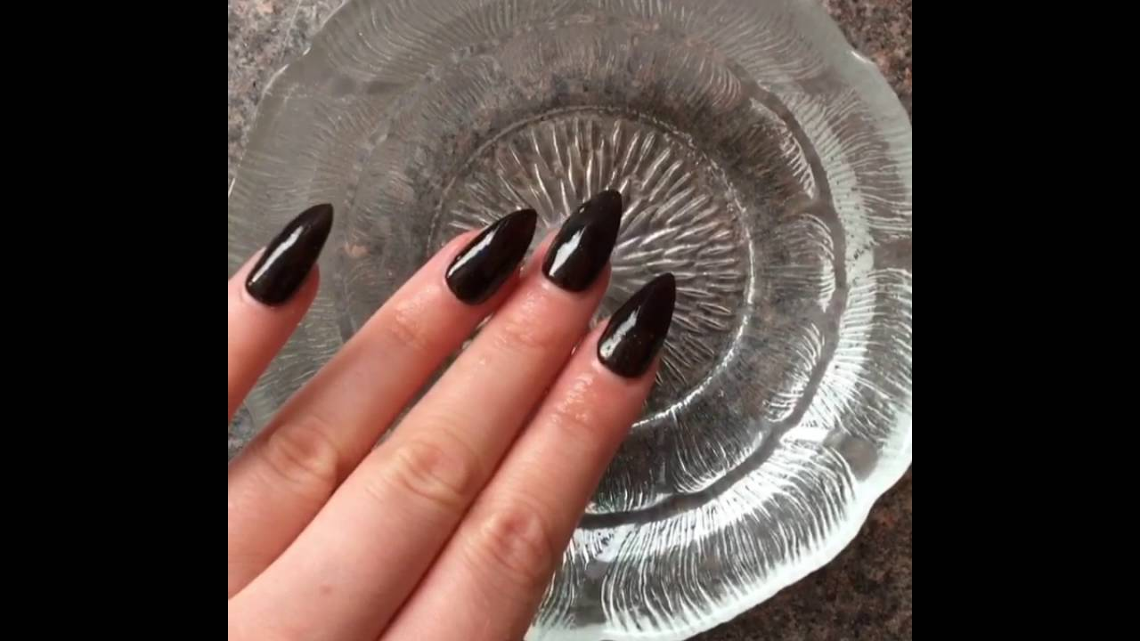 Heat Colour Change Nails Black White Nail Art New Stiletto False