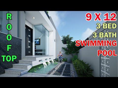 Rumah Minimalis Split Level 1 5 Lantai Di Lahan 9x12 Meter 3 Kamar