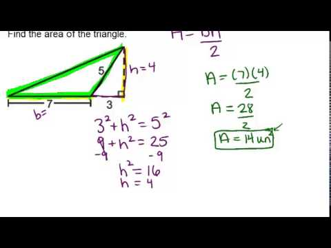 Area and perimeter of triangles examples geometry concepts area and perimeter of triangles examples geometry concepts youtube ccuart Images