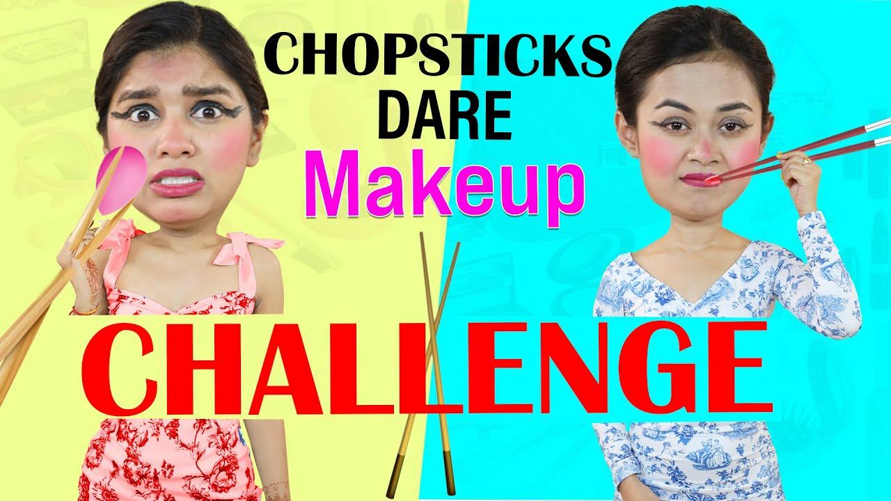 Chopstick Dare Makeup Challenge | DIYQueen