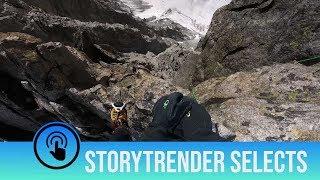 Incredible mountain climbing